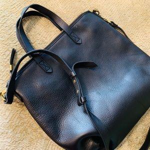 Madewell Black Leather Mini Transport Tote